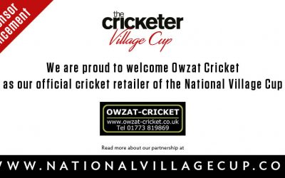 Owzat-Cricket extend deal as the Official Cricket Retailer of The Cricketer Village Cup
