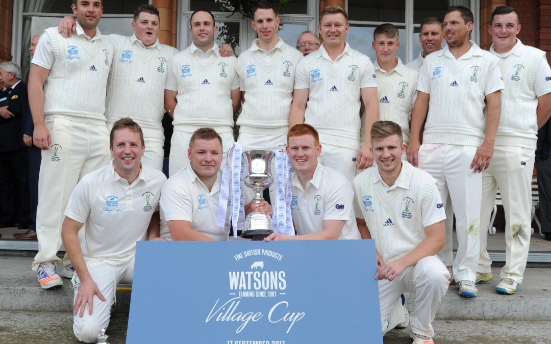 sessay at lords Reed's skipper tom greaves hammered the ball over the pavilion boundary to win the watson's national village cup for reed for the second time.